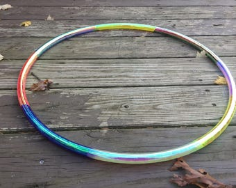 Multi Morph- Morph Taped hula hoop- no section is the same tape- polypro or HDPE hula hoop