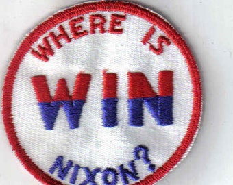 Where is Nixon WIN Authentic retro Vintage Patch Applique