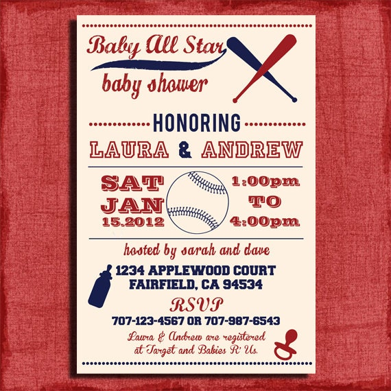 Baseball Themed Invitations