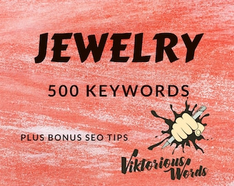 SEO Top Jewelry Keywords Tags for Jewelry Bracelet Necklace Ring Selling Keywords Help Marketing Search Results Instagram Hashtag Ranking