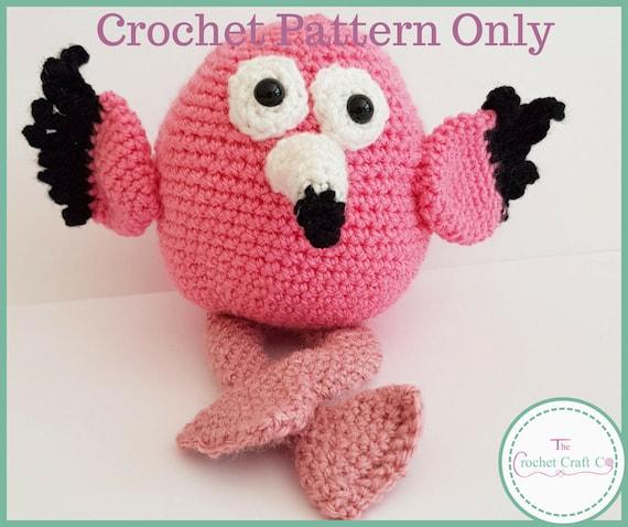 Crochet Pattern Frank The Flamingo Amigurumi Crochet Pattern