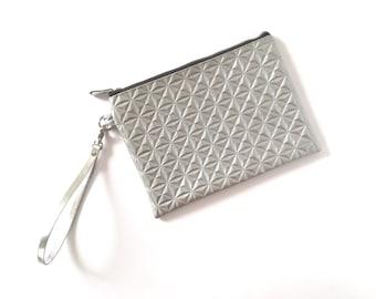 Silver bridesmaid purse, silver bag, evening purse, silver evening bag, wedding bag, silver clutch - Ice