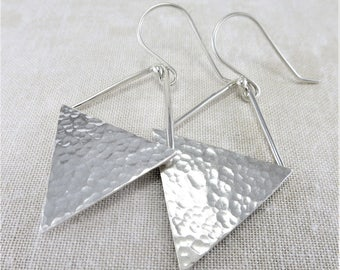 Silver Earrings · Geometric Earrings · Triangle Earrings · Lightweight Earrings · Sterling Earrings · Minimalist Earrings · Dangle Earrings