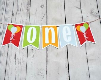 Highchair Banner , Happy Birthday banner , Balloon themed birthday , Balloon themed birthday banner , Balloon Birthday , balloon theme