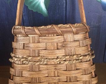 Handmade Basket,  Tapered Wall Basket, Hanging Basket, Wall Basket, Made in USA