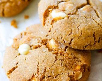 White Chocolate Chip Molasses Cookies