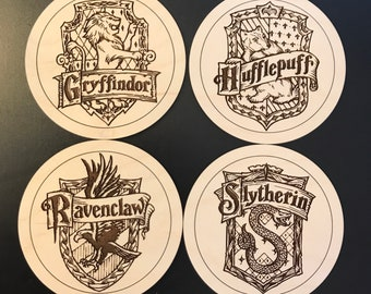 Harry Potter Hogwarts House Coasters