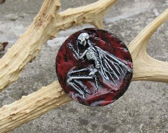 fairy skeleton brooch