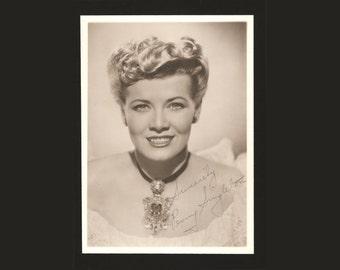 "PENNY SINGLETON 1940s Movie Star Autograph Photo, 5"" x 7"" Authentic Celebrity Signature, Blondie & Dagwood Films, Jane Jetson Voice"
