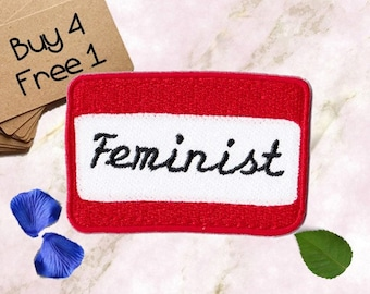 Feminist Patches Name Tag Patches Iron On Patch Embroidered Patch Sew On Patch Patches For Clothes