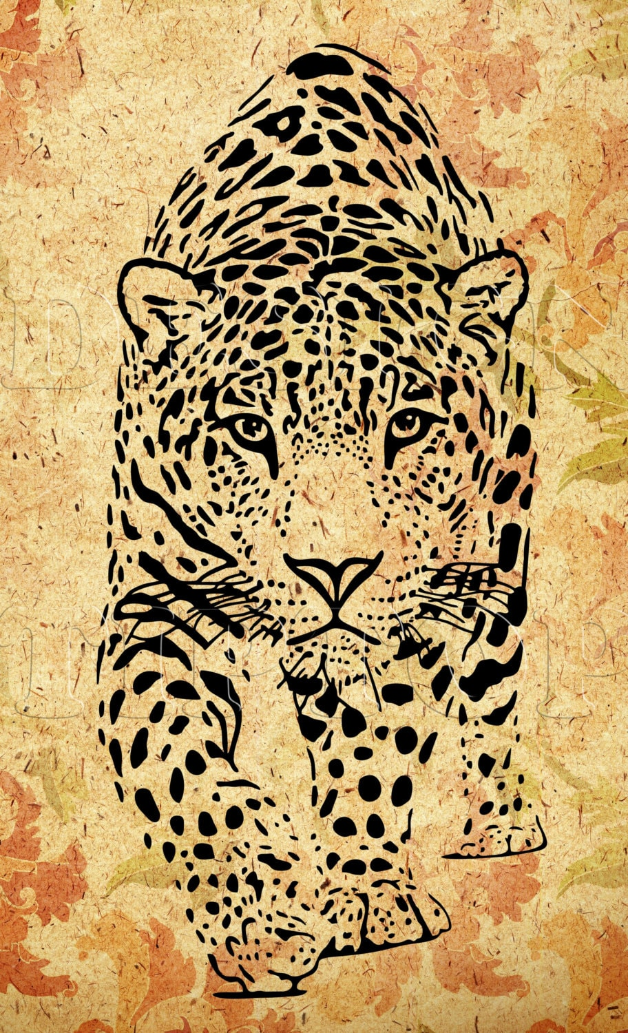 Download Leopard SVG dxf png print and cut files Cricut