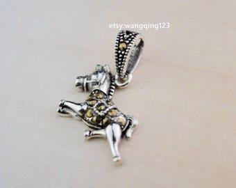 2 pcs sterling silver horse charm pendant  , TYT1