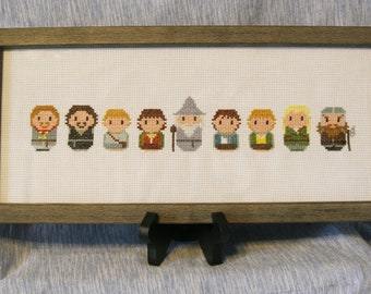 The Fellowship of the Ring - Completed Cross Stitch