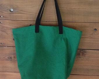 Green shopping tote, cotton shopping bag, canvas tote, Canvas Shopping Bag - More Colors