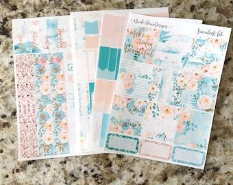 FOIL Succulent B6 Kit, planner stickers