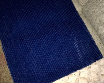 Navy Chenille Luxe Cuddle King Pillowcase with Cream Edge