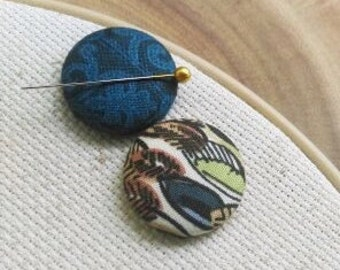 Needle Minder 2 Piece Reversible Scout and Remy, For Cross Stitch, Sewing, Embroidery, Quilting