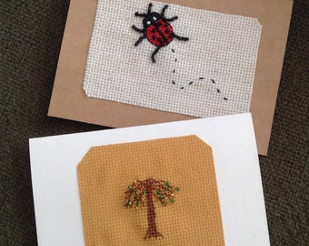 Hand Made Beaded Cards