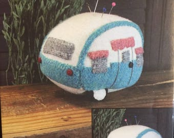 Vintage Camper Pin Keep PATTERN by Cottonwood Creations, pin cushion PATTERN ONLY