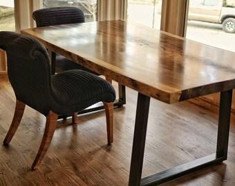 Custom live edge dining table