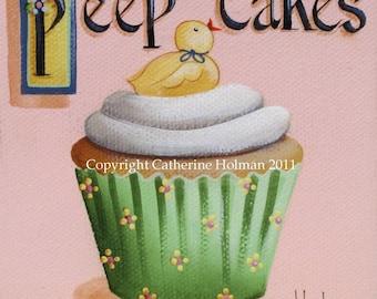Cupcake Print Peep Cakes