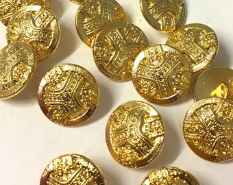 6 Pcs 0 59~0 98 Inches Retro Gold/Anti-silver Crown Metal