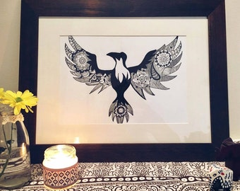 Majestic Eagle Illustration