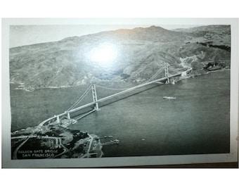 Vintage Postcard Golden Gate Bridge San Francisco Old Collectible