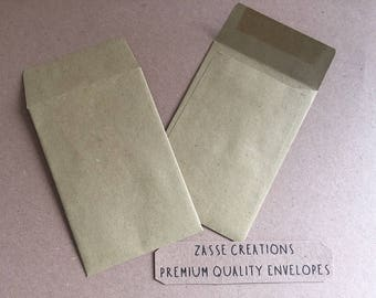 Small Brown Dinner Money/Wage/Coin/Seed/Wedding/Charity Envelopes 90gsm - 100mm x 62mm Quantities 50-1000
