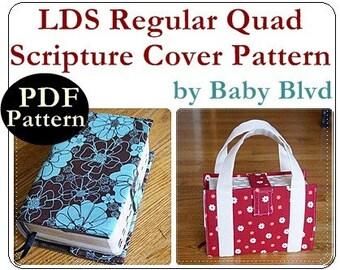 PATTERN/Tutorial for LDS Regular Quad Scripture Cover