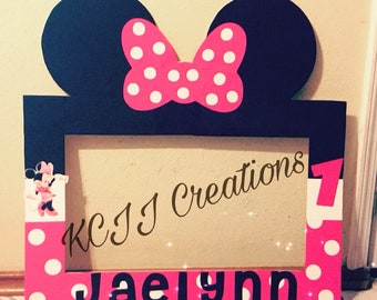 Minnie Mouse Birthday Photo Frame