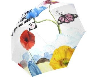 Spring sprung umbrella