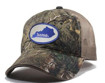 Homeland Tees Kentucky Home State Realtree Camo Trucker Hat