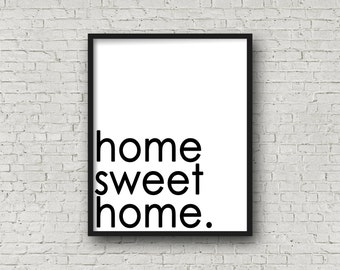 Home Sweet Home, Home Sign, Printable Art, Kitchen Sign, Home Decor, Kitchen Decor, Wall Art, Printable Quote, Wall Art Sign, Printable Art