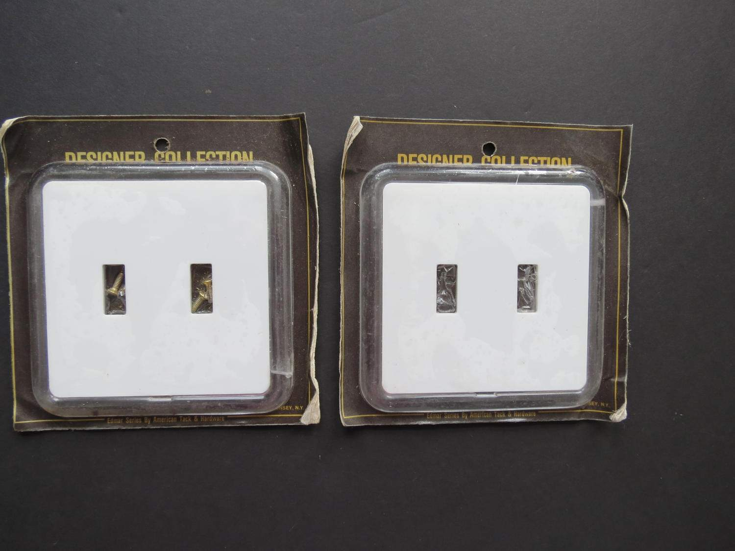 Plastic Light Switch Covers White Plastic Light Switch Cover  Vintage Edmar Series