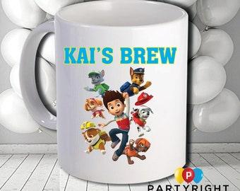 Personalised Paw Patrol Mug - Dishwasher Safe - 10oz