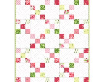 Sweet Pea FLANNEL by Maywood Studio! - Quilt Market Release - Irish Chain Quilt kit - POD