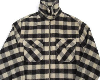 Vintage the Limited Black and White Checkered Plaid Flannel Size Small