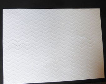 White embossed card/page Chevron 21x29.7cm 210g A4