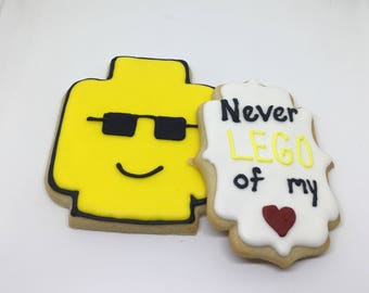 Never Lego My Heart Cookies Dozen