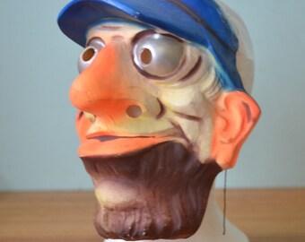 Vintage Goofy Man Disney Mask By Cesar 1950s  France Halloween
