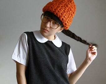 The Juno Hat in Orange Marmalade.