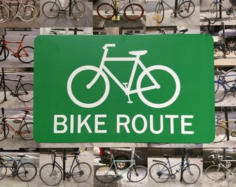 Bike Route Metal Sign
