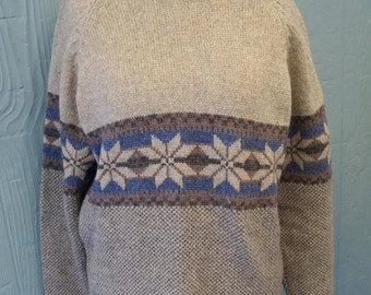 Gray and Blue Sweater - Size Large