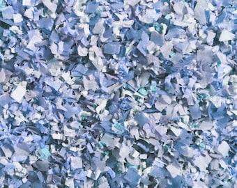 Winter Blue Confetti Biodegradable Baby Boy Gender Reveal Baby Shower Cornflower Powder Dusty Blue Decoration InsideMyNest (25 Guests)