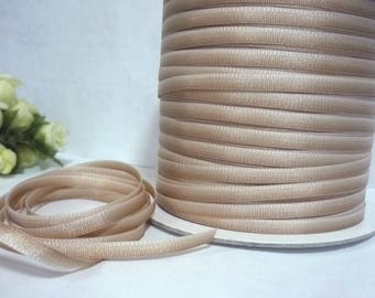 10 yds - 50 yds Tan Ombre Polyester Grosgrain Ribbon 3/16 inch /  5mm width best for hanger loop, wrapping, invitation card L425