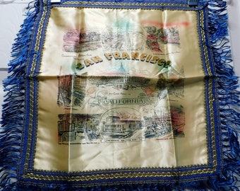 Vintage San Francisco, California Souvenir Pillow Cover-Never Used-NOS