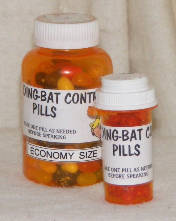 "Funny ""DING BAT CONTROL"" Pills  . . candy pills, a fun gag gift, anytime"
