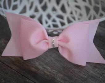 "Pink 5"" Hair Bow, Hair Bow, Hair Accessory, Bow Clips, Hair Bow Alligator Clip, Hair bows, Hair Boutique Bow, Accessories"