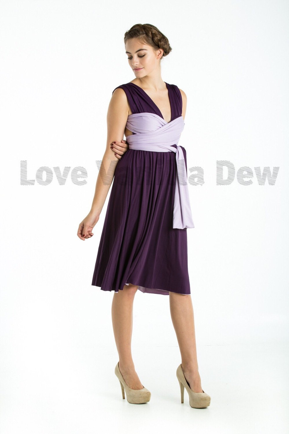 Bridesmaid dress infinity dress royal purple with lilac zoom ombrellifo Image collections